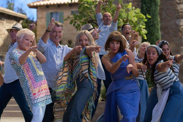 Een beeld uit 'Mamma Mia!'