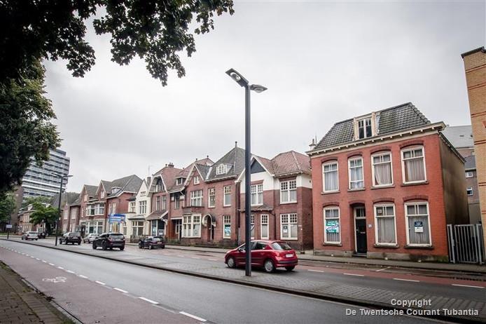 De monumentale panden aan de Ripperdastraat in Enschede