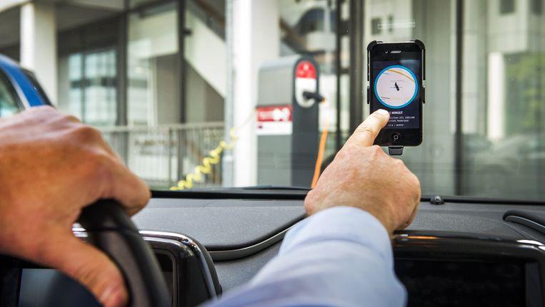 Uberpop van Uber is momenteel verboden in Nederland. Het is een voorbeeld van technologie die impact heeft in Amsterdam. Beeld anp