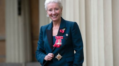 Actrice Emma Thompson probeerde prins William te kussen