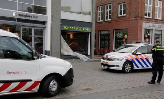 Mislukte ramkraak bij juwelier Schaap en Citroen in Den Bosch