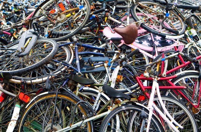 Zo erg als hier op de foto is in het de gemeente Heusden niet. Toch is ook in Heusden best eeb flink aantal gevonden fietsen.