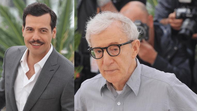 Laurent Lafitte (links), Woody Allen (rechts)
