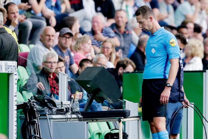 Christiaan Bax tijdens FC Groningen-FC Twente, afgelopen weekend.