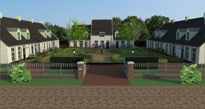 Een eerder plan voor een hofje op Den Dries in Ledeacker redde het niet.