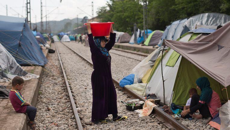 Vluchtelingen in Griekenland.