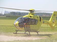 Traumahelikopter voor medisch noodgeval in Vlissingen