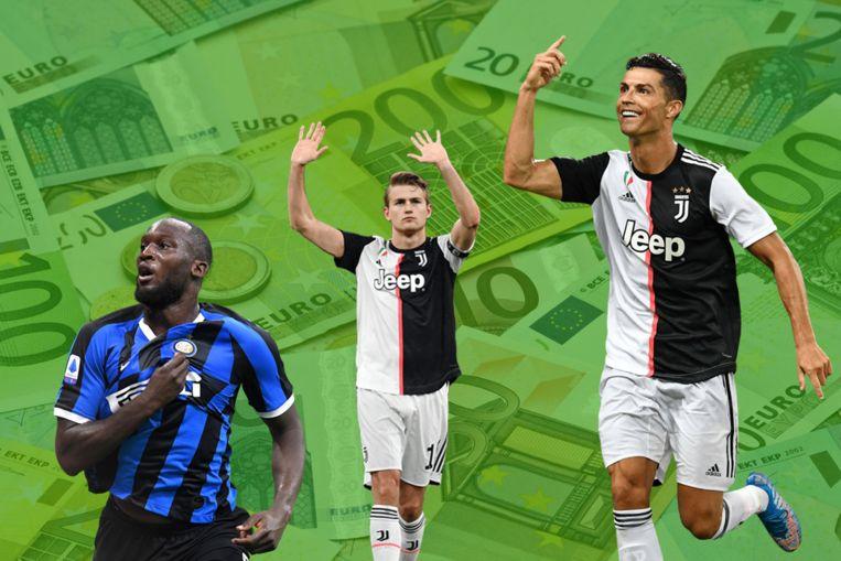 Lukaku, De Ligt en Ronaldo.
