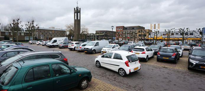 De heringerichte Markt in Prinsenbeek.