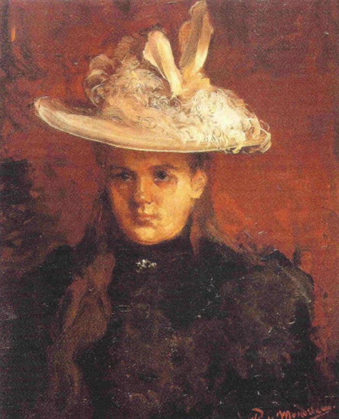 Piet Mondriaan, Portret van koningin Wilhelmina (1896). Bruikleen Rijksmuseum Paleis Het Loo, Apeldoorn