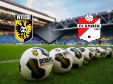 Vitesse en Emmen open de eredivisiezondag