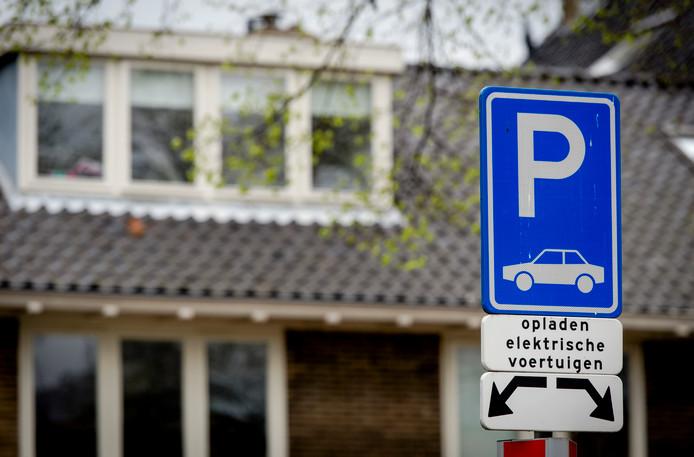 Een oplaadpunt voor elektrische auto's.