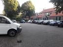 Parkeerterrein voor vergunninghouders bij de Schilderstraat.