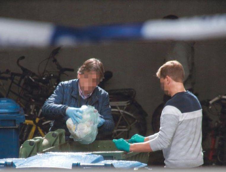 Het gerechtelijk labo en speurders onderzochten gisteren de hele dag het pand en de omgeving.