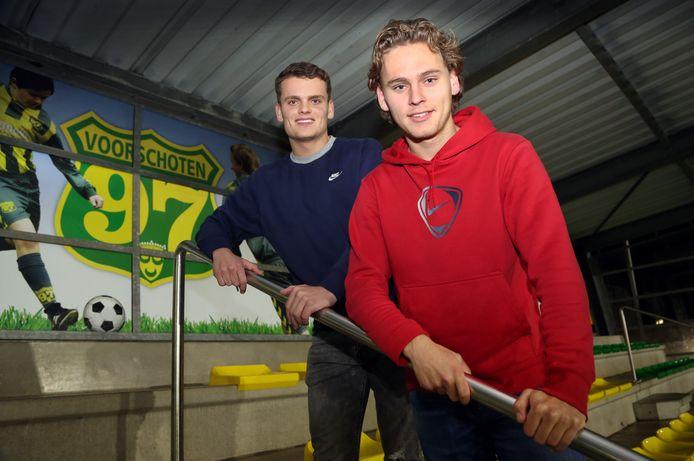 Nick (links) en Chris Guijt zijn trefzeker voor Voorschoten'97.