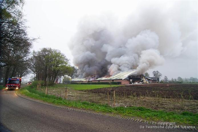 Een stalbrand in Langeveen