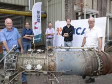Straalmotor TenCate van 800 kilo krijgt tweede leven in het praktijkonderwijs
