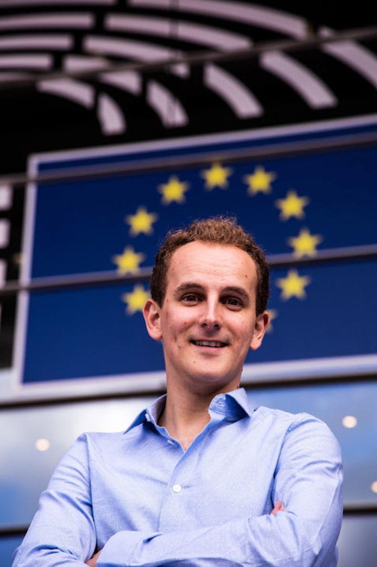 Frédéric Piccavet aan het Europees parlement in Brussel