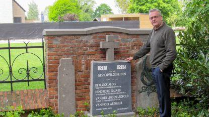 Namen van gesneuvelde helden weer leesbaar: nieuwe gedenksteen voor oorlogsslachtoffers in Puivelde