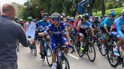 """LIVE GP MONTRÉAL. Vijf renners trekken van bij de start in het offensief, Evenepoel is wat van plan: """"Ik heb er goesting in"""""""
