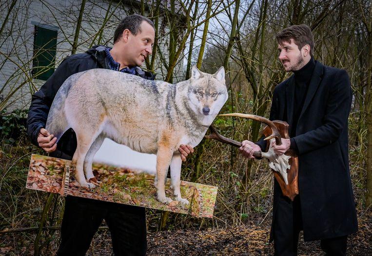 Jan Loos van Welkom Wolf en Maarten Goethals van Hubertus staan samen voor de uitdaging om wolven te laten samenleven met de mens en alle andere betrokken partijen.