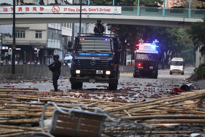 Grote onrust in de straten van Hongkong.
