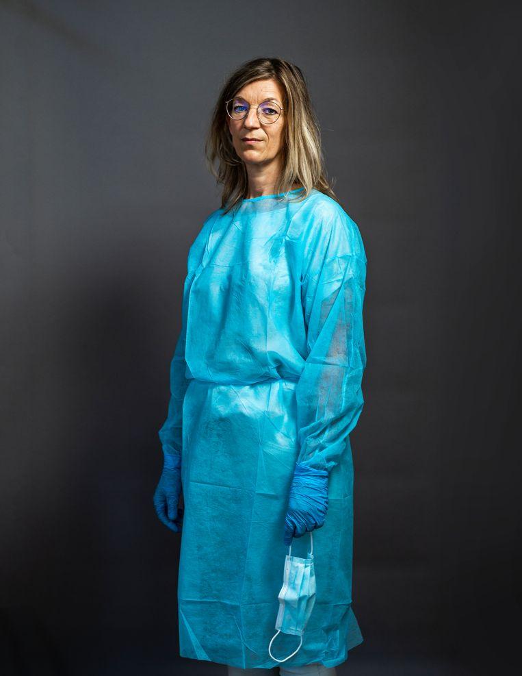 Verpleegkundige Judith Kruizenga: 'Het gebeurde in een paar uur tijd, van een grapje naar de dood.' Beeld Jiri Büller