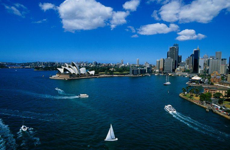 Zicht op Sydney, Australië. Beeld getty