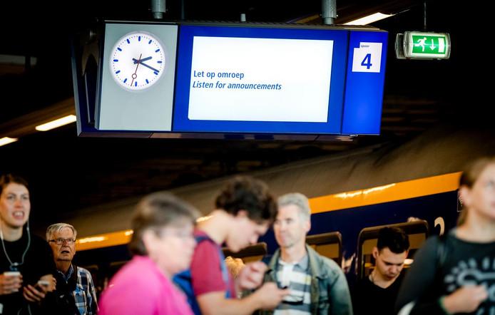 Tussen Vleuten en Woerden rijden er minder treinen.