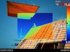 'Wat?! 83 graden op dit dak in Borne?'