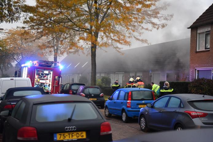 Woningbrand aan de Goudenregenstraat in Almelo