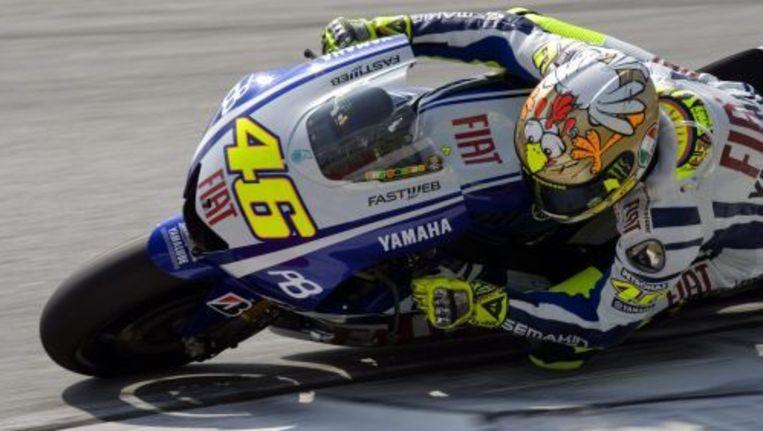 Valentino Rossi rijdt een testrondje op het circuit van Sepang. ANP Beeld