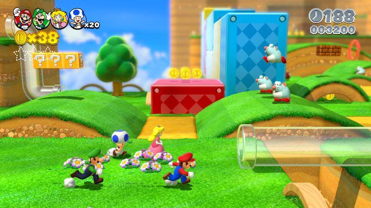 Beeld uit 'Super Mario 3D World', de comebackgame voor de Wii U.