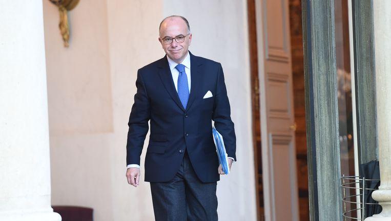 De Franse minister van Binnenlandse Zaken Bernard Cazeneuve. Beeld AFP