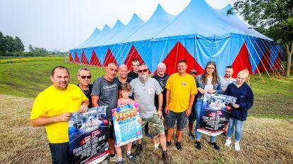 Grote tent Zandrock Festival staat al recht