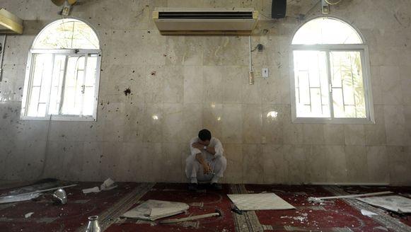 Een familielid van een van de slachtoffers in de aangevallen moskee.