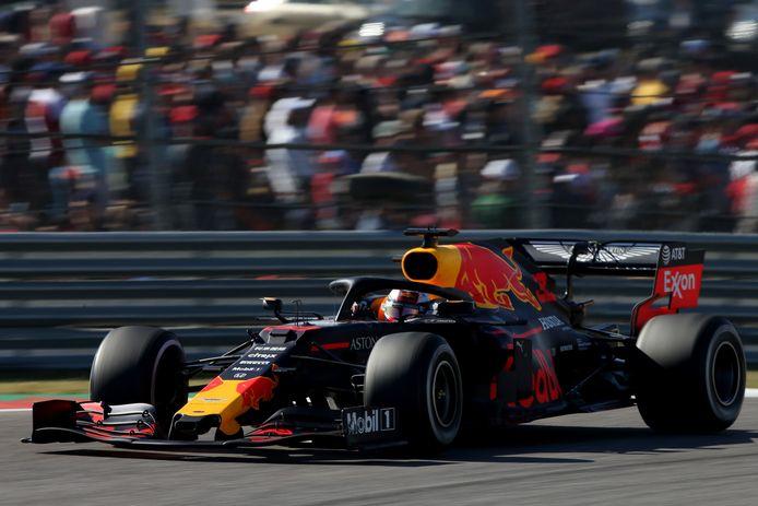 Max Verstappen tijdens de GP in Austin vorige week.
