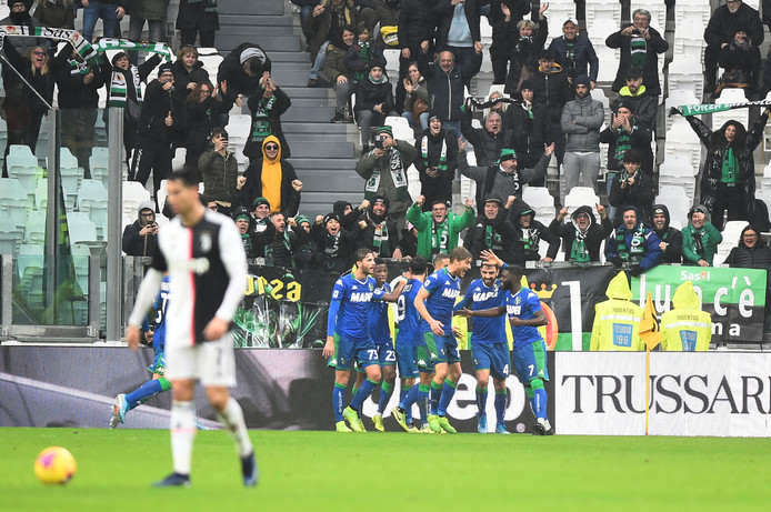 Sassuolo viert de 1-1 van Jeremie Boga.