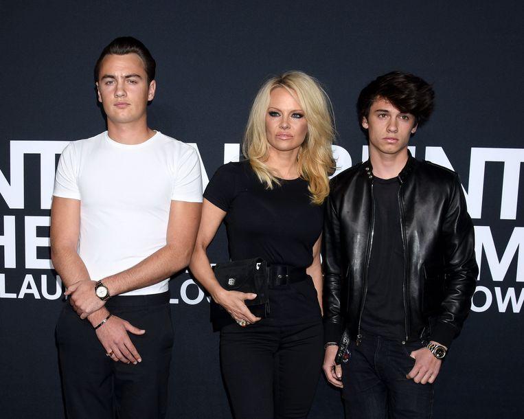 Vlnr: Brandon, Pamela en Dylan