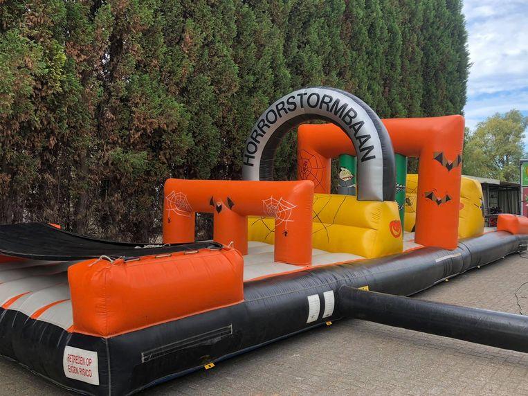 De horrorstormbaan is een van de eyecatchers op het springkastelenfestival.