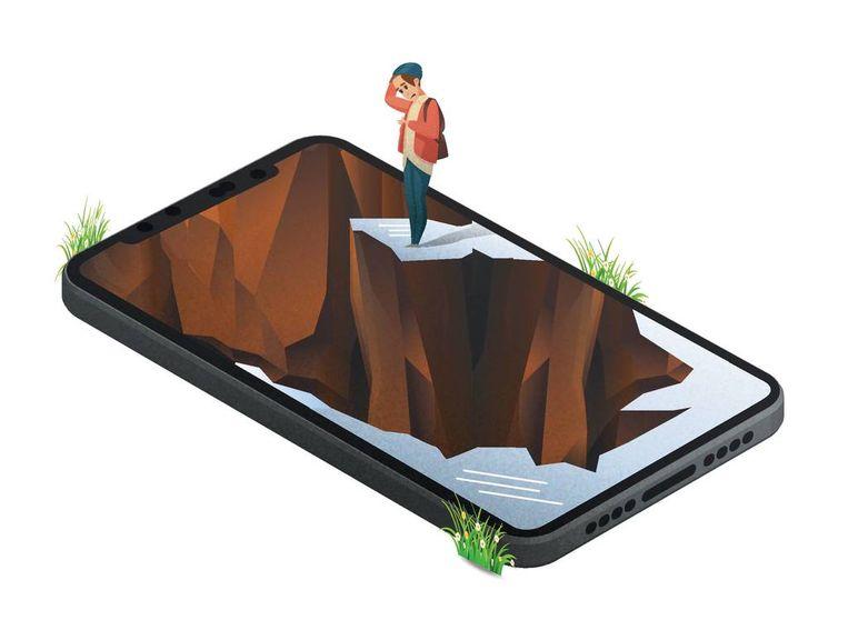 Steeds meer twintigers zijn bang van technologie.