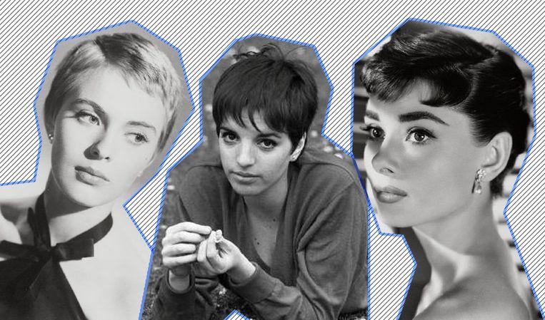 Jean Seberg, Liza Minnelli en Audrey Hepburn.