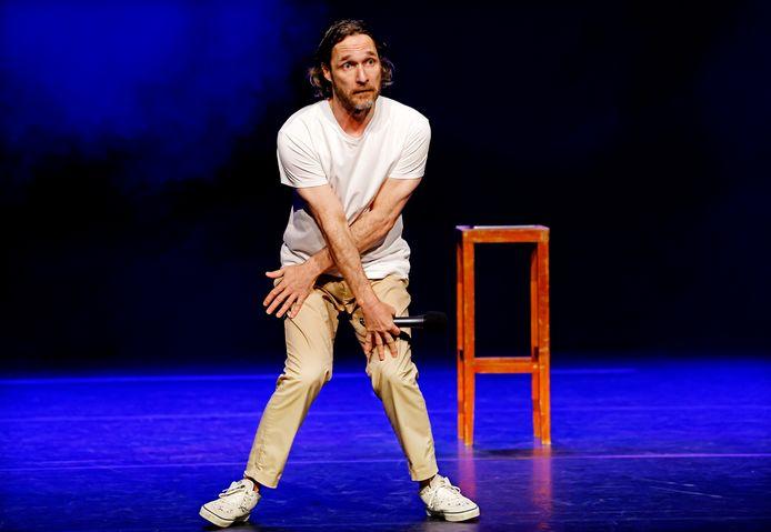 Javier Guzman tijdens zijn voorstelling.