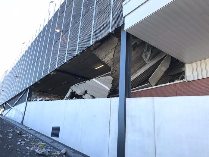 De ingestorte garage in Wormerveer