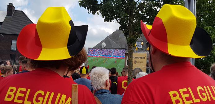 De spanning stijgt bij de supporters Rode Duivels