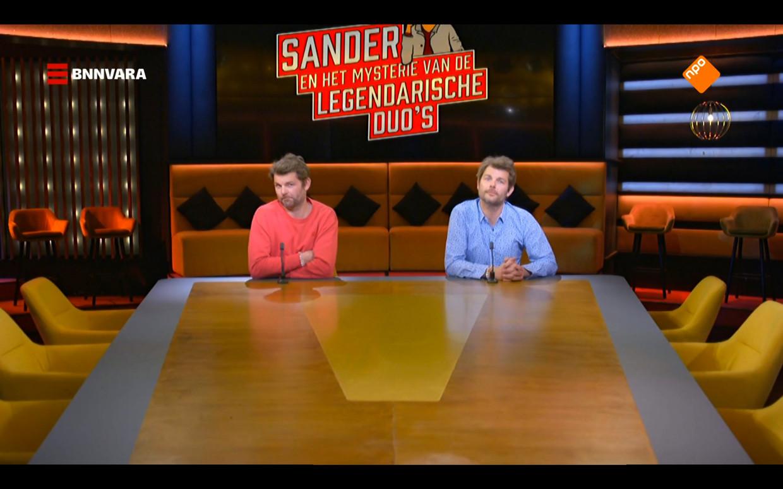 Sander Lantinga over tv-duo's in de studio van 'Op1' Beeld