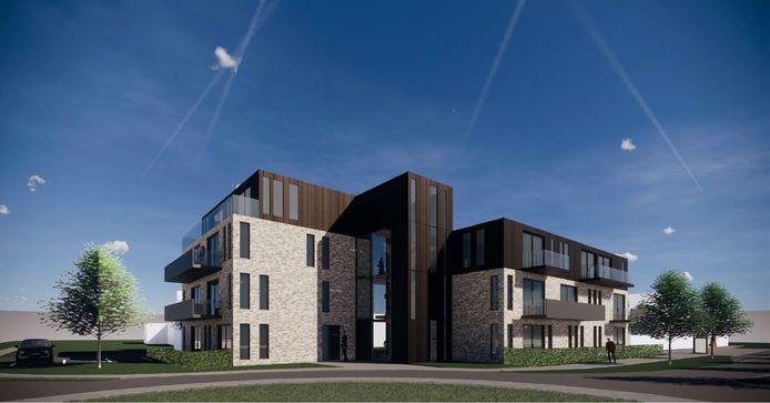 Impressie van het complex dat aan de rotonde Bitswijk-Hobostraat komt te staan.