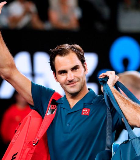 Jubilaris Federer simpel naar laatste zestien in Melbourne