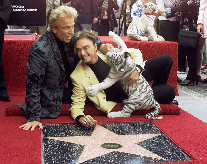 Siegfried (L) en Roy