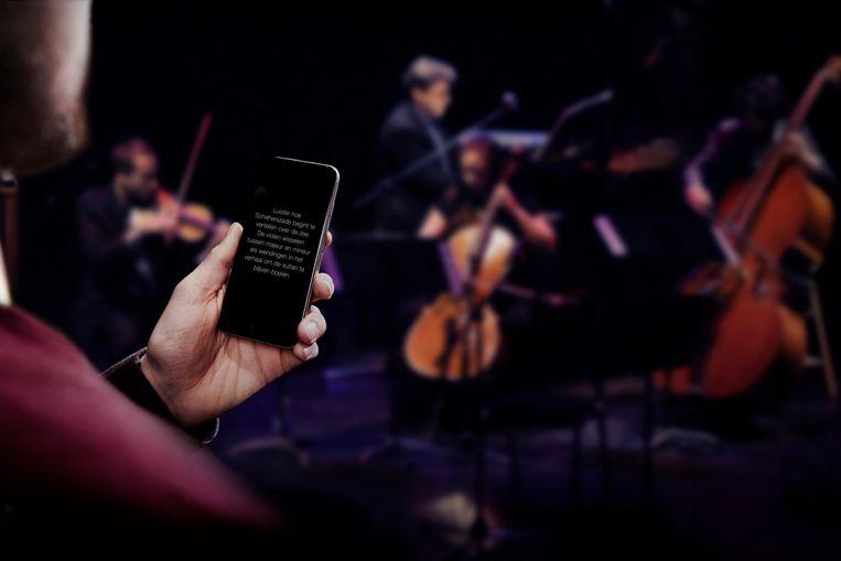 De Wolfgang-app is een voorbeeld van digitale innovatie in de cultuursector. Het programma geeft luistertips tijdens concerten. Beeld rv